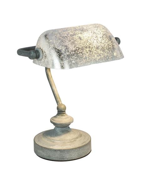 Tischleuchte »ANTIQUE« grau mit 25 W, H: 24 cm, E14 ohne Leuchtmittel