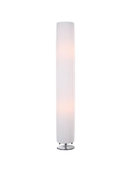 Tischleuchte »BAILEY« weiß/chromfarben mit 40 W, 2-flammig, H: 119 cm,  ohne Leuchtmittel