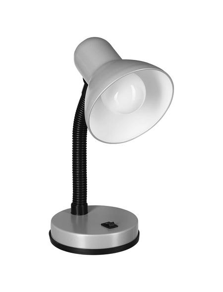 EGLO Tischleuchte »BASIC 1« silberfarben/schwarz mit 40 W, Schirm-Ø x H: 13 x 30 cm, E27 ohne Leuchtmittel