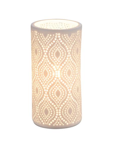 Tischleuchte »CENDRES« Weiß mit 25 W, H: 20 cm, E14 ohne Leuchtmittel