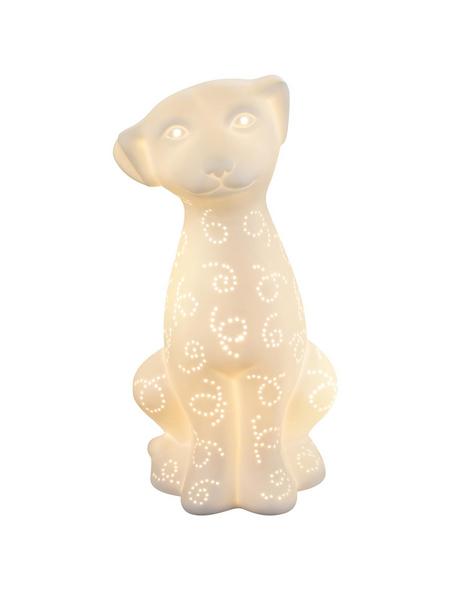Tischleuchte »CHAITA« Weiß mit 25 W, H: 31 cm, E14 ohne Leuchtmittel