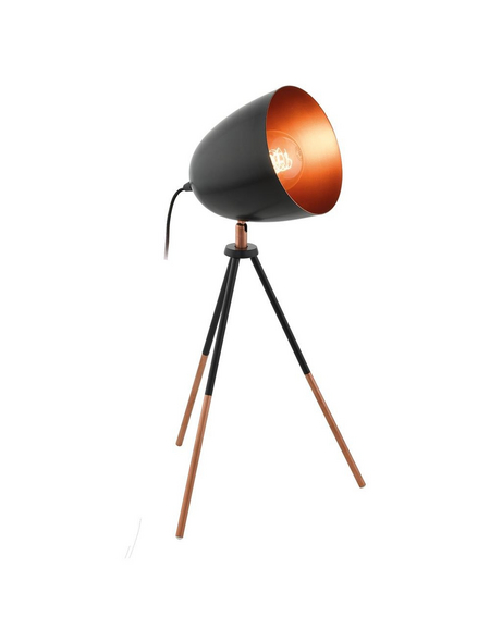 EGLO Tischleuchte »CHESTER«, schwarz/kupferfarben, Höhe: 44 cm