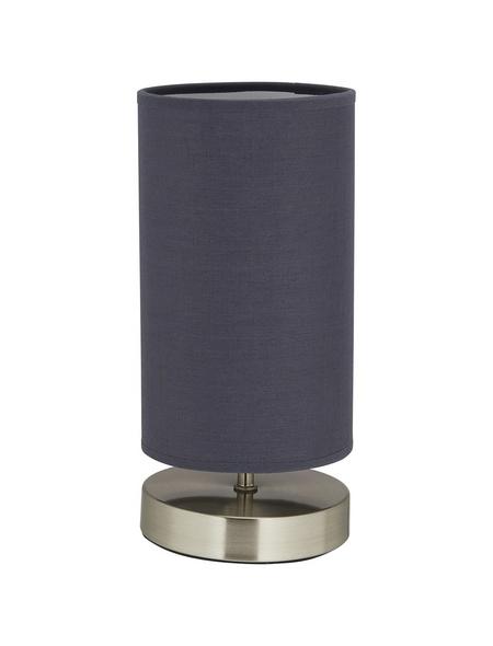 BRILLIANT Tischleuchte »Clarie« grau/nickelfarben mit 40 W, H: 25,5 cm, E14 ohne Leuchtmittel