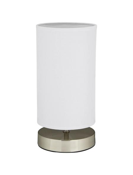 BRILLIANT Tischleuchte »Clarie« weiß/nickelfarben mit 40 W, H: 25,5 cm, E14 ohne Leuchtmittel