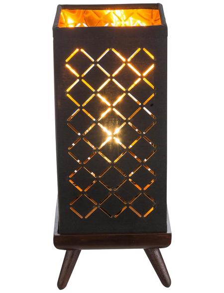 GLOBO LIGHTING Tischleuchte »CLARKE« schwarz/goldfarben/nickelfarben mit 40 W, H: 25 cm, E14 ohne Leuchtmittel
