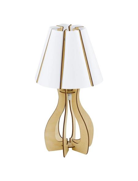 EGLO Tischleuchte »COSSANO« weiß/ahornfarben mit 60 W, H: 45 cm, E27 ohne Leuchtmittel