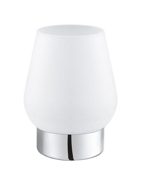 EGLO Tischleuchte »DAMASCO 1« weiß/chrom mit 60 W, H: 17,5 cm, E14 ohne Leuchtmittel