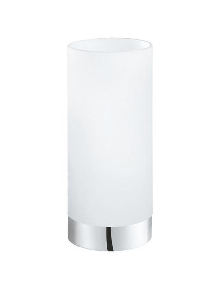 EGLO Tischleuchte »DAMASCO 1« weiß/chromfarben mit 60 W, H: 21,5 cm, E27 ohne Leuchtmittel