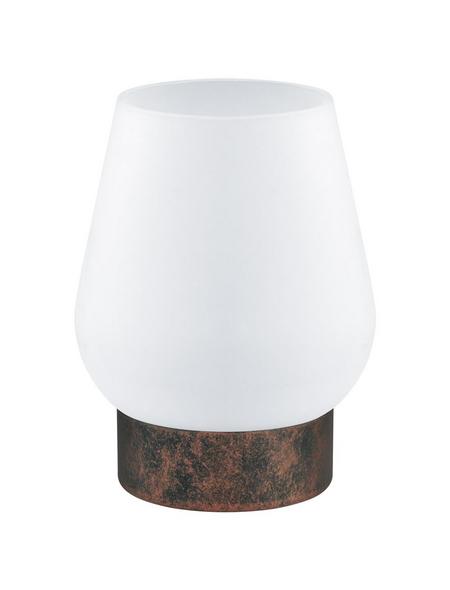 EGLO Tischleuchte »DAMASCO 1« weiß/kupferfarben mit 60 W, H: 17,5 cm, E14 ohne Leuchtmittel