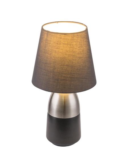 GLOBO LIGHTING Tischleuchte »EUGEN« nickelfarben mit 40 W, H: 31 cm, E14 ohne Leuchtmittel