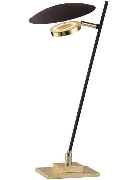 Tischleuchte goldfarben mit 4,5 W, H: 43 cm, LED  in Warmweiß