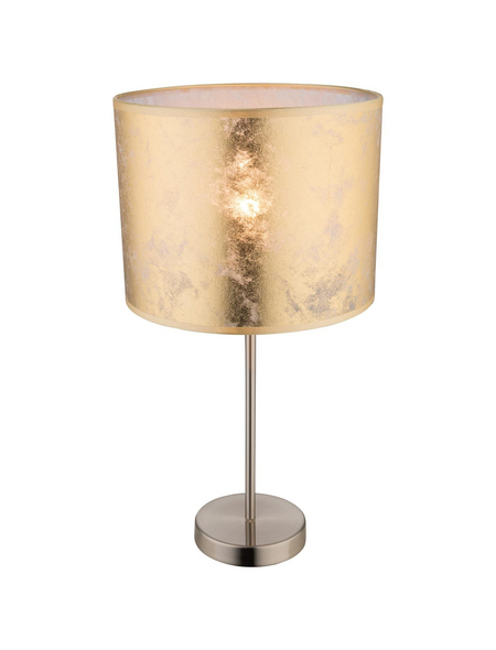 GO/ON! Tischleuchte goldfarben mit 60 W, H: 50 cm, E27 ohne Leuchtmittel