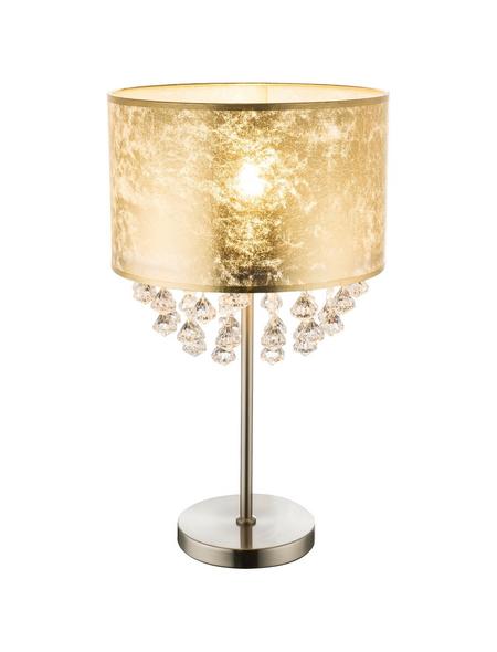 GLOBO LIGHTING Tischleuchte goldfarben/nickelfarben mit 28 W, H: 56 cm, E27 ohne Leuchtmittel