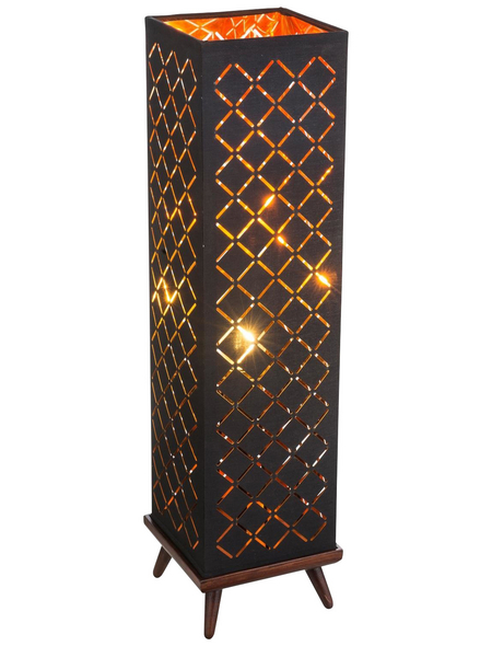 GLOBO LIGHTING Tischleuchte goldfarben/nickelfarben mit 40 W, H: 57 cm, E27 ohne Leuchtmittel
