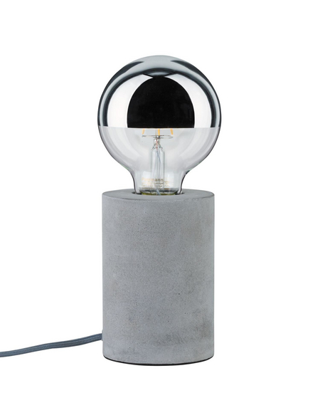 PAULMANN Tischleuchte grau mit 20 W, H: 13 cm, E27 ohne Leuchtmittel