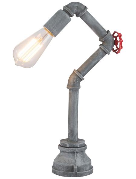 GLOBO LIGHTING Tischleuchte grau mit 60 W, H: 43,5 cm, E27 ohne Leuchtmittel