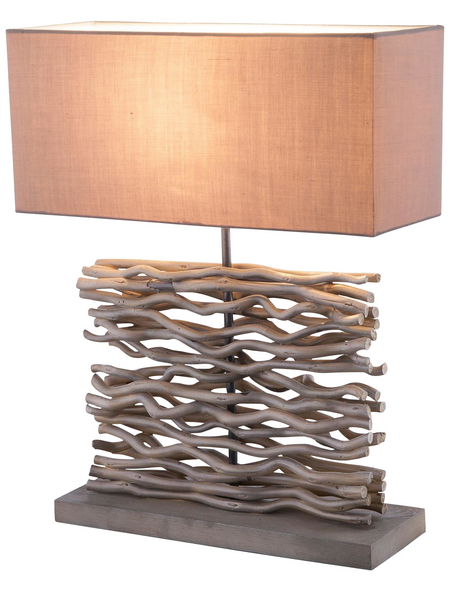 GLOBO LIGHTING Tischleuchte grau mit 60 W, H: 50 cm, E27 ohne Leuchtmittel