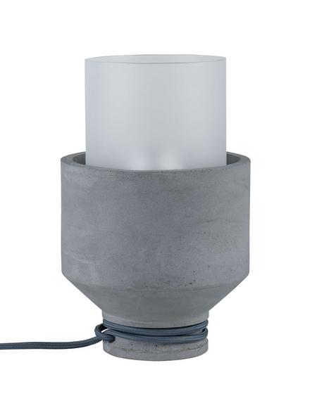 PAULMANN Tischleuchte grau/satin mit 20 W, H: 25 cm, E27 ohne Leuchtmittel