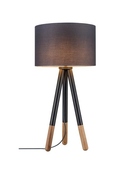 PAULMANN Tischleuchte holzfarben/grau mit 20 W, H: 70 cm, E27 ohne Leuchtmittel