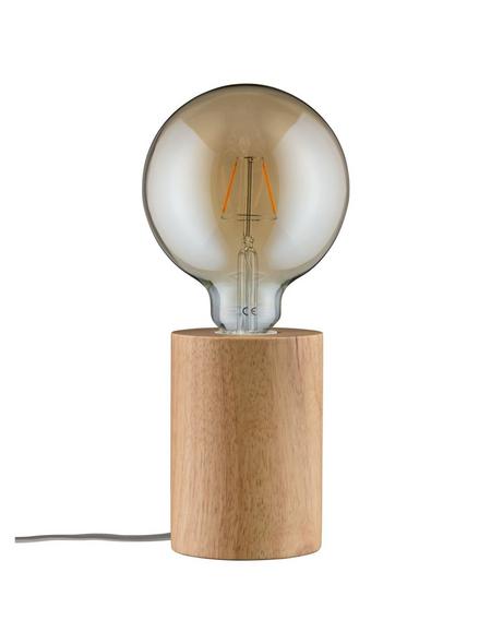 PAULMANN Tischleuchte holzfarben mit 20 W, H: 13 cm, E27 ohne Leuchtmittel