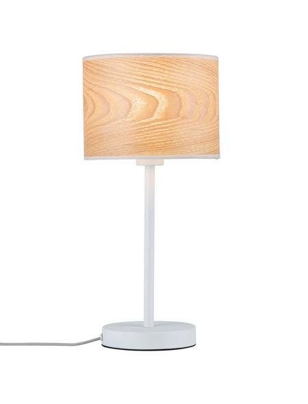 PAULMANN Tischleuchte holzfarben/weiß mit 20 W, H: 44,5 cm, E27 ohne Leuchtmittel