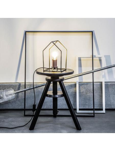 BRILLIANT Tischleuchte »Home« schwarz/kupferfarben mit 60 W, H: 22,5 cm, E27 ohne Leuchtmittel