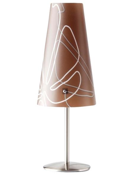 BRILLIANT Tischleuchte »Isi« dunkelbraun mit 40 W, Schirm-Ø x H: 13 x 36 cm, E14 ohne Leuchtmittel