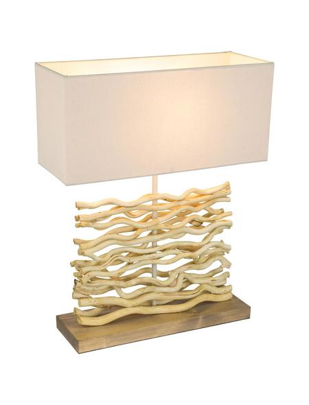 Tischleuchte »JAMIE« natur mit 60 W, H: 50 cm, E27 ohne Leuchtmittel