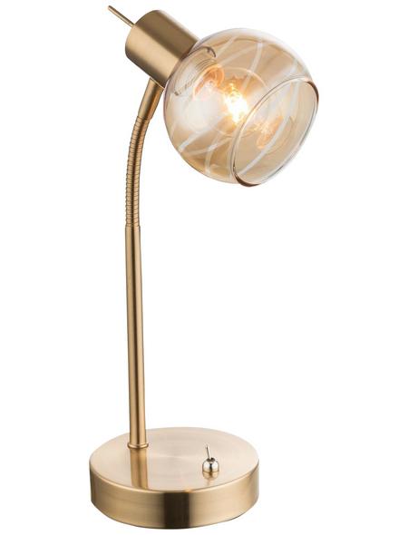 Tischleuchte »LARA« goldfarben mit 4 W, H: 34 cm, E14 inkl. Leuchtmittel