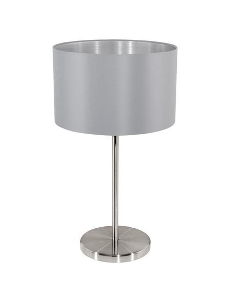 EGLO Tischleuchte »MASERLO« grau/silberfarben mit 60 W, H: 42 cm, E27 ohne Leuchtmittel