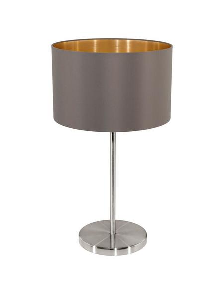 EGLO Tischleuchte »MASERLO« nickelfarben/goldfarben/cappuccinofarben mit 60 W, H: 42 cm, E27 ohne Leuchtmittel