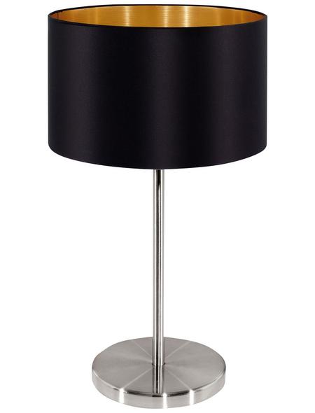 EGLO Tischleuchte »MASERLO« schwarz/nickelfarben/goldfarben mit 60 W, H: 42 cm, E27 ohne Leuchtmittel