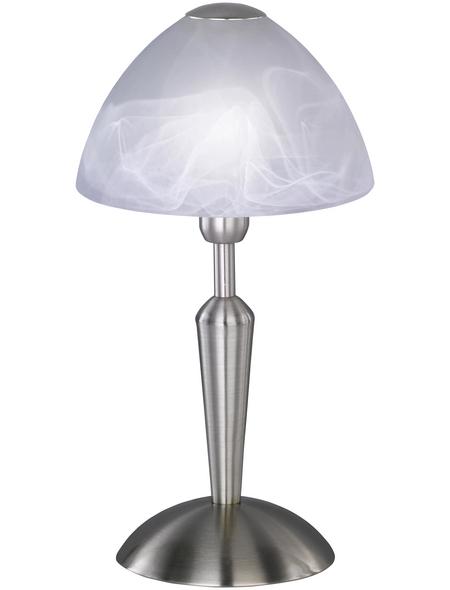wofi® Tischleuchte »MORLEY« nickelfarben mit 40 W, H: 33 cm, E14 ohne Leuchtmittel