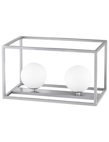 wofi® Tischleuchte nickelfarben mit 3,5 W, 2-flammig, H: 35 cm, G9 inkl. Leuchtmittel in Warmweiß