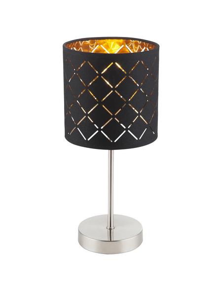 GLOBO LIGHTING Tischleuchte nickelfarben mit 40 W, H: 35 cm, E14 ohne Leuchtmittel