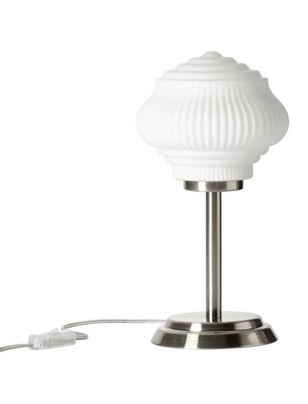 BRILLIANT Tischleuchte nickelfarben/weiß_matt mit 40 W, H: 33,50 cm, E14 ohne Leuchtmittel