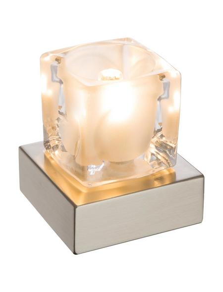 Tischleuchte »NUBUK« eiche_dunkel/weiß_hochglanz mit 3 W, H: 10,5 cm, G9 inkl. Leuchtmittel