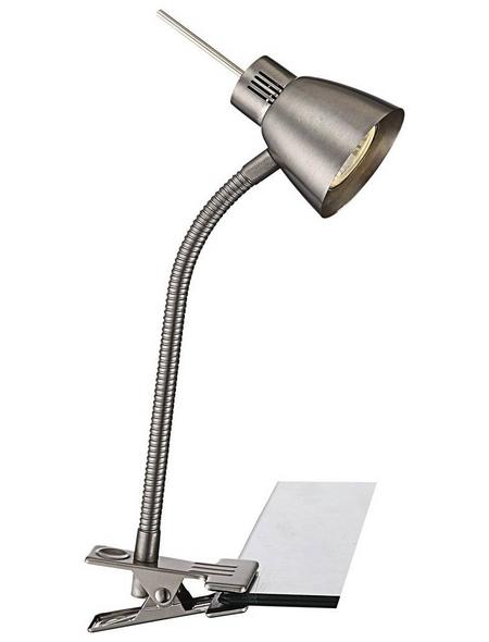 Tischleuchte »NUOVA« nickelfarben mit 3 W, H: 37,5 cm, GU10 inkl. Leuchtmittel