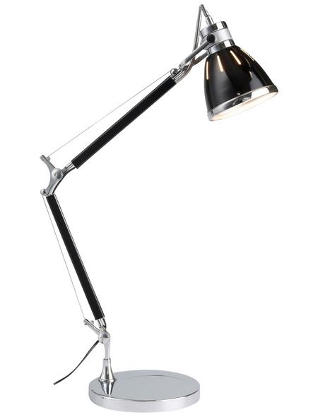 BRILLIANT Tischleuchte »Octavia« schwarz/chromfarben mit 40 W, H: 47,5 - 80 cm, E27 ohne Leuchtmittel
