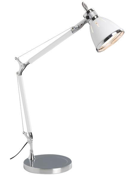 BRILLIANT Tischleuchte »Octavia« weiß/chromfarben mit 40 W, H: 47,5 - 80 cm, E27 ohne Leuchtmittel