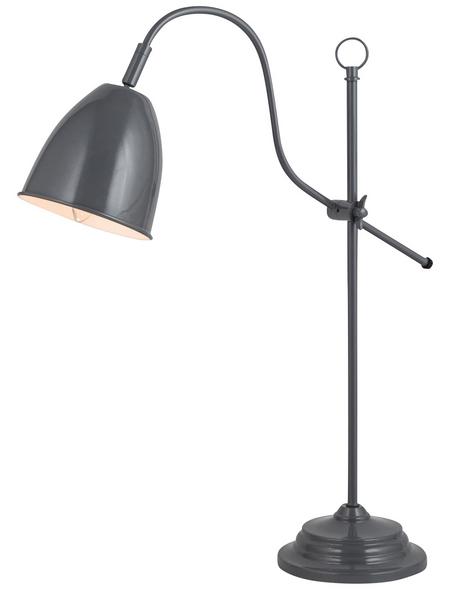 NÄVE Tischleuchte »Pastel Cap« mit 40 W, 1-flammig, Grau, Schirm-Ø x H: 13 x 53 cm