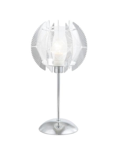 Tischleuchte »POLLUX« chromfarben/klar mit 40 W, H: 36 cm, E14 ohne Leuchtmittel