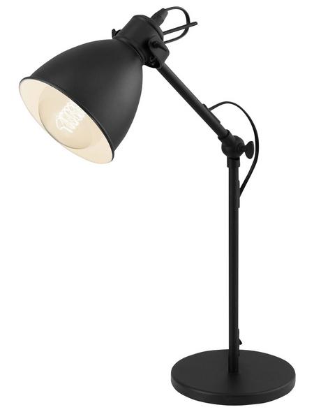 EGLO Tischleuchte »PRIDDY« schwarz mit 40 W, Schirm-Ø x H: 13 x 59 cm, E27 ohne Leuchtmittel