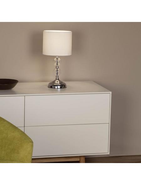 BRILLIANT Tischleuchte »Rom« mit 60 W, 1-flammig, Weiß/Chrom, H: 38,00 cm