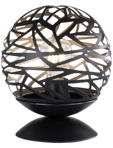 wofi® Tischleuchte schwarz/goldfarben mit 60 W, H: 24 cm, E27 ohne Leuchtmittel