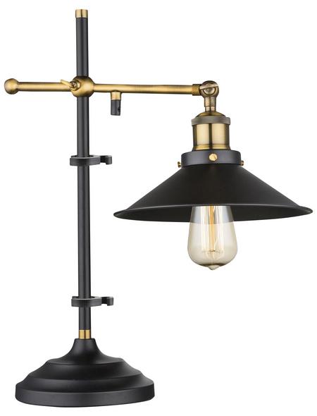 GLOBO LIGHTING Tischleuchte schwarz mit 60 W, H: 45,5 cm, E27 ohne Leuchtmittel