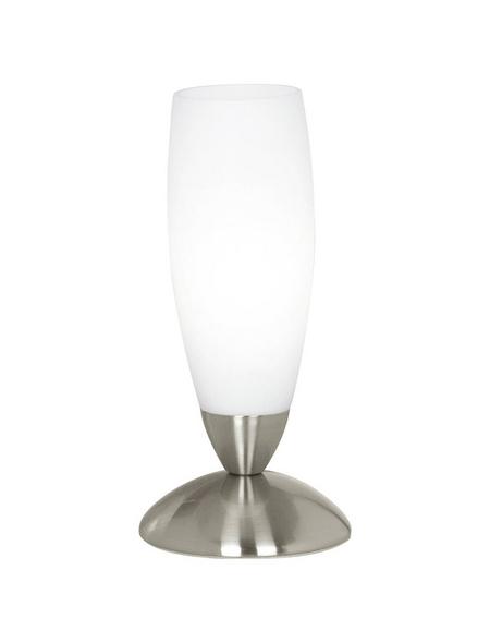 EGLO Tischleuchte »SLIM« weiß/nickelfarben mit 40 W, H: 22 cm, E14 ohne Leuchtmittel