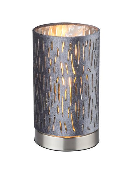 GLOBO LIGHTING Tischleuchte »TAROK« nickelfarben mit 40 W, H: 20,5 cm, E14 ohne Leuchtmittel