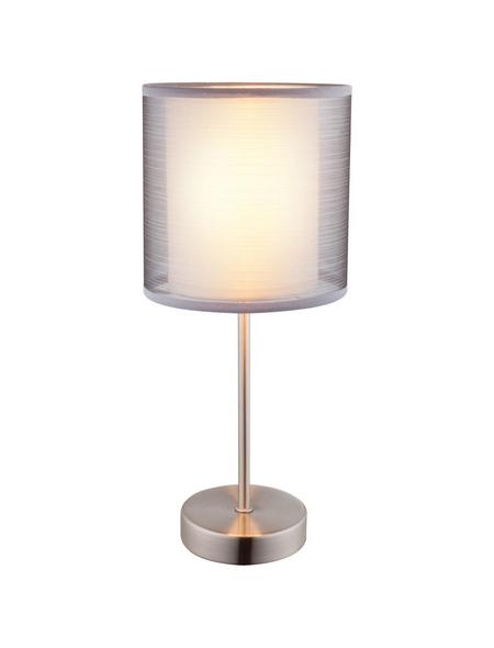 GLOBO LIGHTING Tischleuchte »THEO« nickelfarben mit 40 W, H: 35 cm, E14 ohne Leuchtmittel
