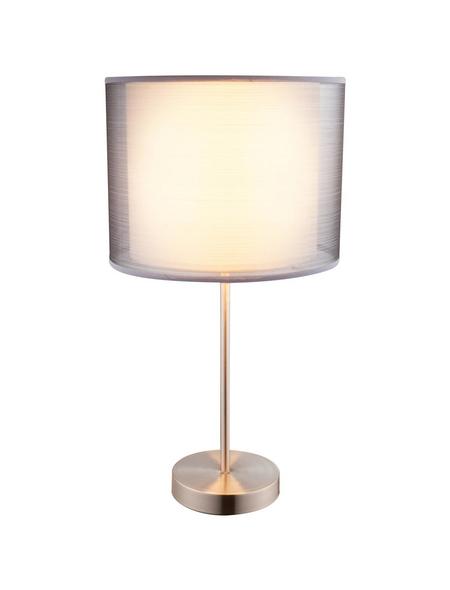 GLOBO LIGHTING Tischleuchte »THEO« nickelfarben mit 60 W, H: 50 cm, E27 ohne Leuchtmittel